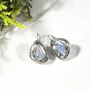 Swarovski crystal earrings silver tone setting